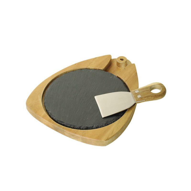 [SPICE OF LIFE] チーズラウンドスレートボード&ナイフセット NEW DAY LVLR2039