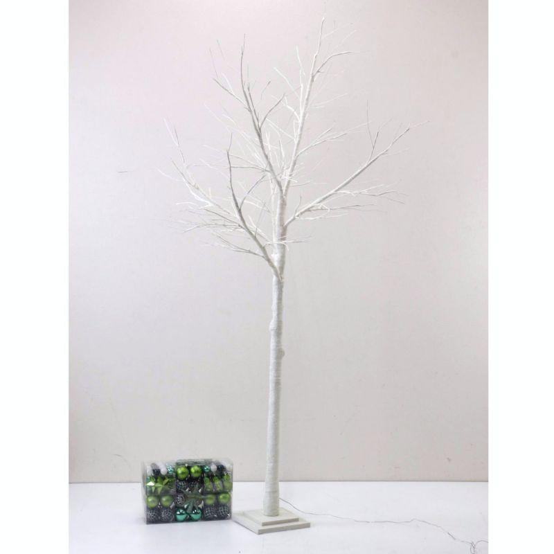 [大型送料1,650円]【3,600円OFF】 LEDブランチツリー ホワイト トール×グリーンオーナメントSET RJXN3114WHGR  / SPICE OF LIFE