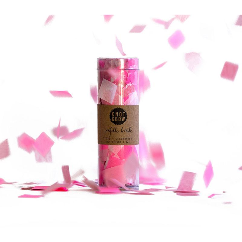 KNOT&BOW カラフルコンフェッティ ピンク Lサイズ PC1-P