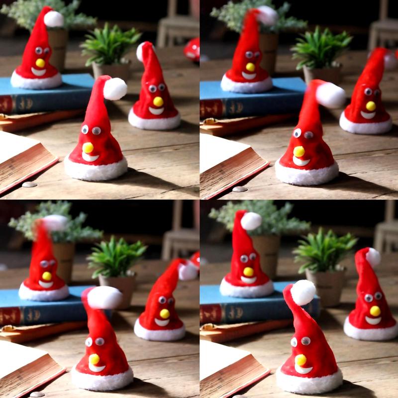 【冬雑貨20%OFFセール】FUNNYクリスマス ミュージック フリフリサンタハット LCXZ2010 / SPICE OF LIFE