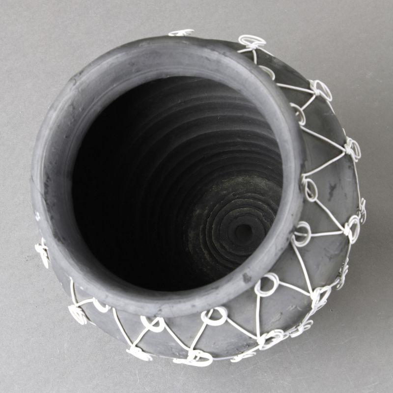 [SPICE OF LIFE] ワイヤーデコレーション フラワーポット ブラック LYGK2920