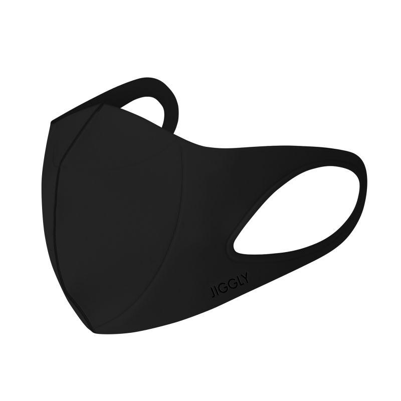 [送料無料/別発送] 【52%OFF! マスクに風特別セット】ウルトラパフマスクジグリー ブラック Sサイズ & ダブルファン JGM1011SBK / BTM×SPICE OF LIFE / JIGGLY WFan