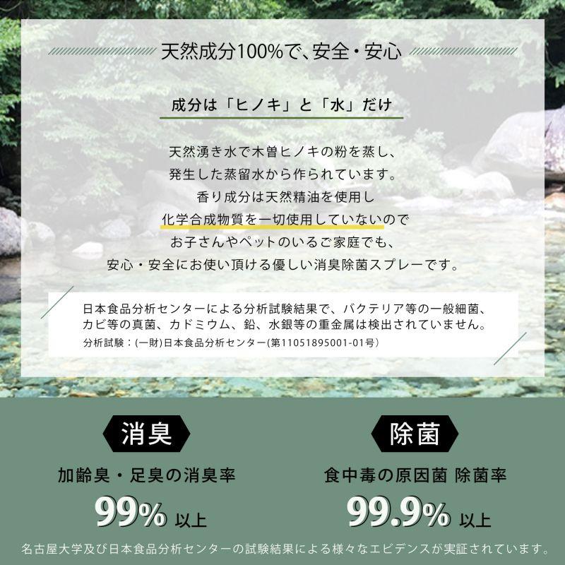 ヒノキ 天然消臭除菌スプレー 携帯用 パルマローザ 50ml YKLG5050A / SPICE OF LIFE