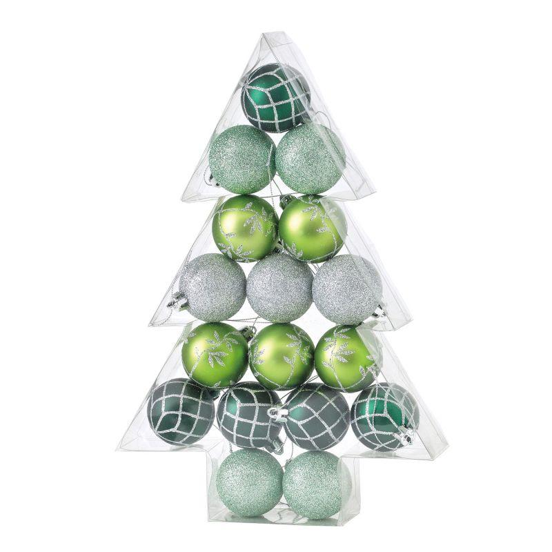 クリスマス パーティーオーナメント 5cmボール17個セット グリーン GEXK3039GR / SPICE OF LIFE