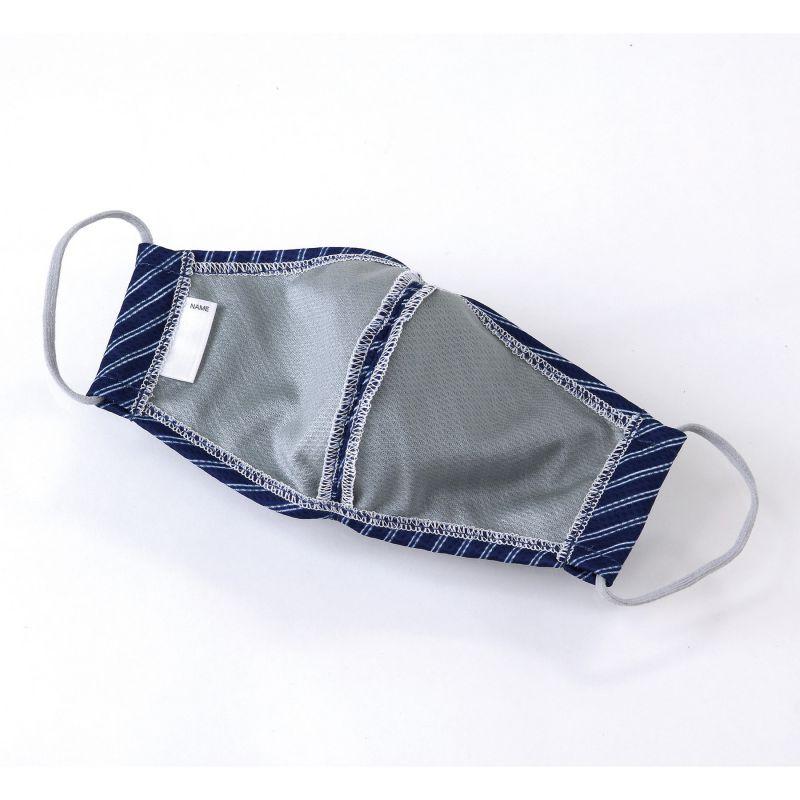 UVカットウォータークールマスク2枚セット ストライプBL&NY 小さめサイズ SFVZ2139AS / SPICE OF LIFE