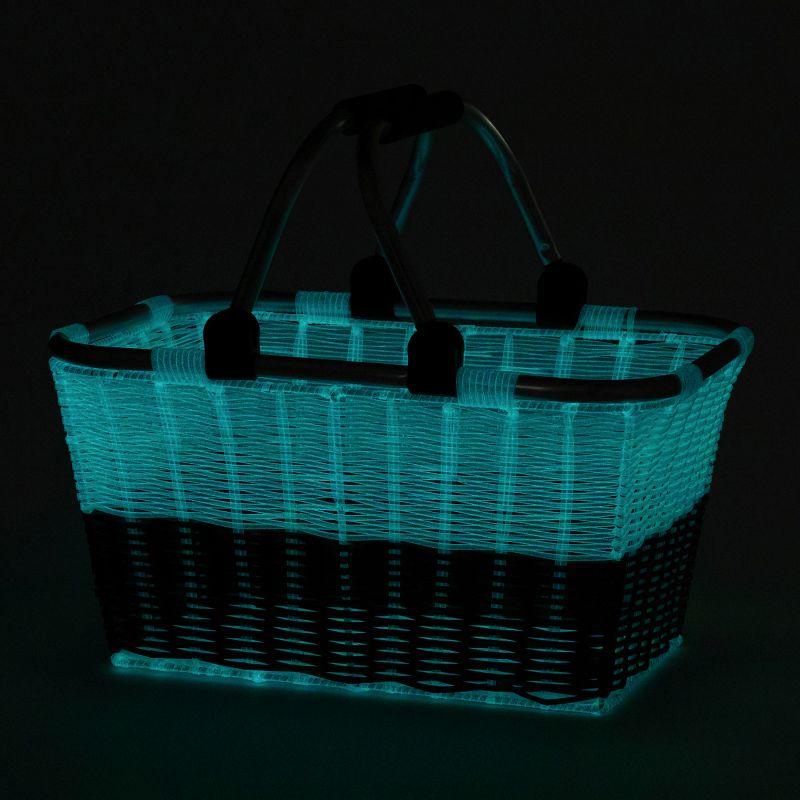 【夏セール30%OFF】HOTALUMIERE 暗がりで光る アルミハンドルバスケット ブルー SFLZ2020BL / SPICE OF LIFE
