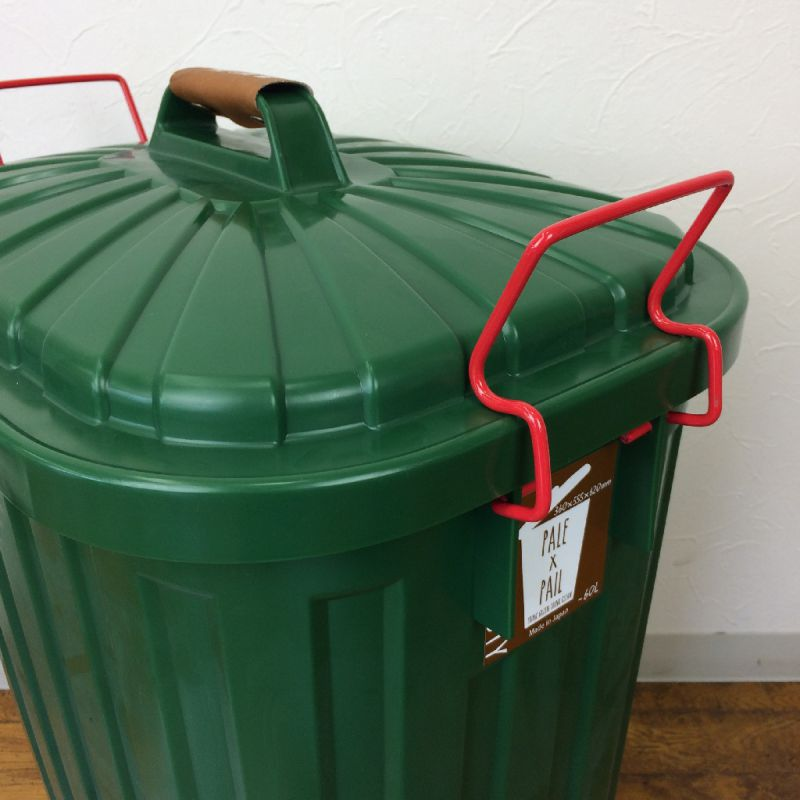 ふた付きゴミ箱 フォレストグリーン 60L PALE×PAIL IWLY4010FG / SPICE OF LIFE