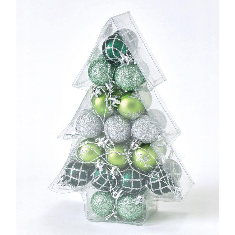 クリスマス パーティーオーナメント 3cmボール34個セット グリーン GEXK3049GR / SPICE OF LIFE
