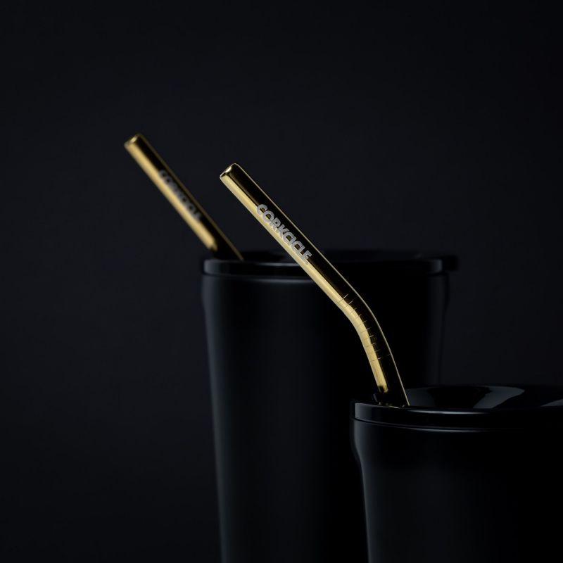 CORKCICLE ステンレスストロー2本セット ブラシ付き ゴールド Gold 2100ST-EG