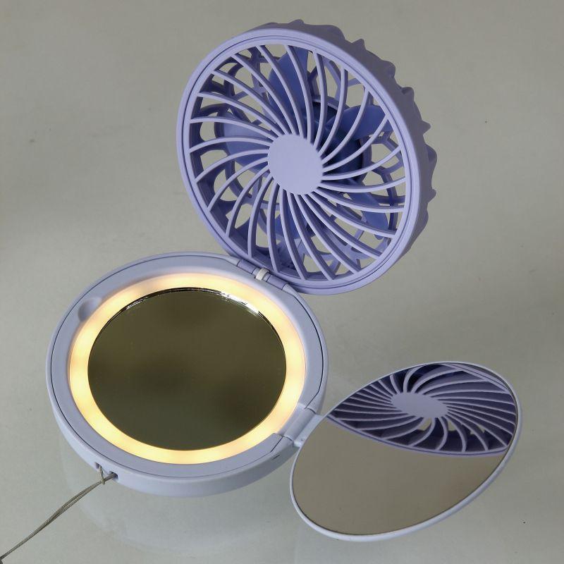 ミラーファンビュラス ブルーデイジー 鏡・ライト付きコンパクトファン DFCP216BL / SPICE OF LIFE
