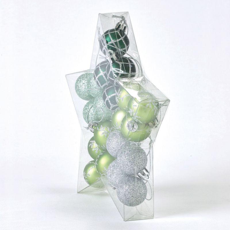 クリスマス パーティーオーナメント 3cmボール20個セット グリーン GEXK3059GR / SPICE OF LIFE