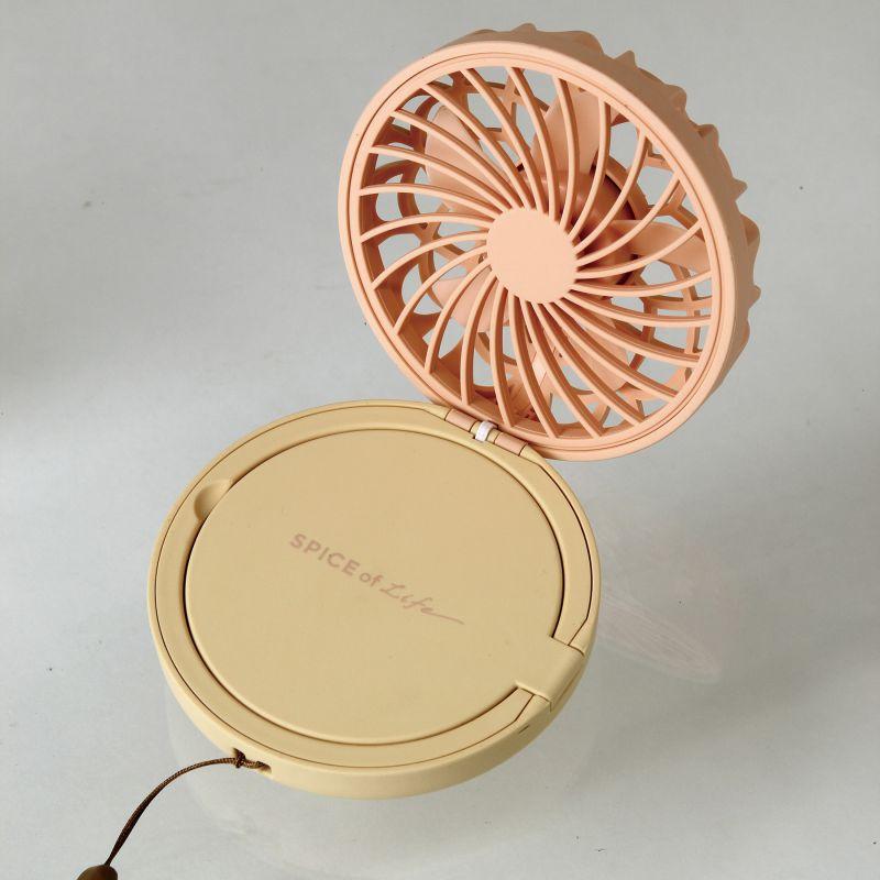 ミラーファンビュラス オレンジアプリコット 鏡・ライト付きコンパクトファン DFCP216OR / SPICE OF LIFE