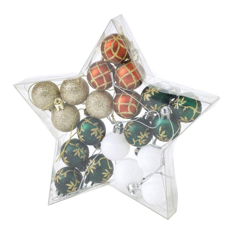 クリスマス パーティーオーナメント 3cmボール20個セット レッド&グリーン GEXK3059RG / SPICE OF LIFE