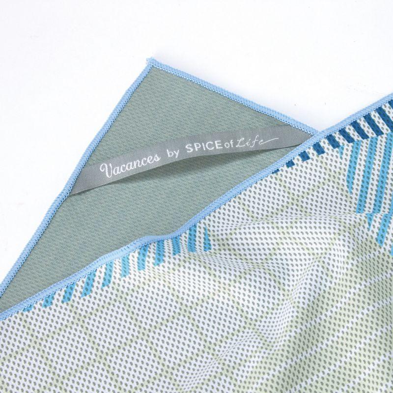 【セール50%OFF】ウォータークールタオル ライン ブルー 120×34cm SFVZ3005 / SPICE OF LIFE