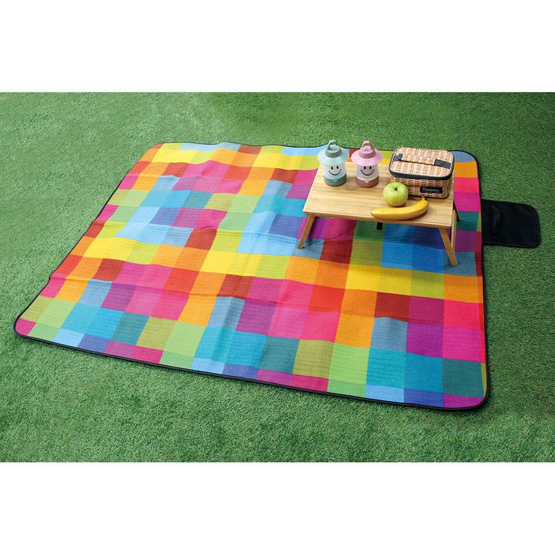 [SPICE OF LIFE] 折りたたみピクニックマット ブロックチェック バカンス SFVG1610
