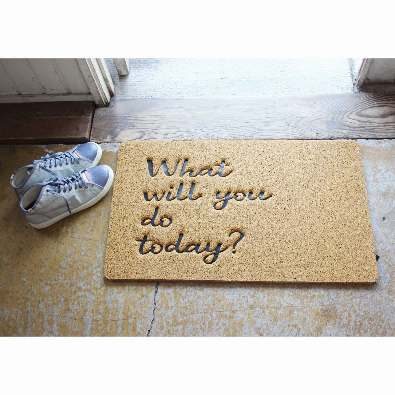 [SPICE OF LIFE] ふかふかテラスマット What will you do today? Sサイズ CWLN2931