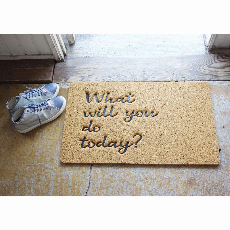 ふかふかテラスマット What will you do today? Sサイズ CWLN2931 / SPICE OF LIFE