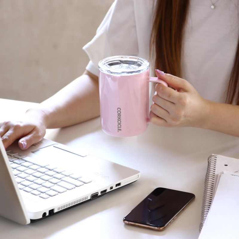 CORKCICLE コーヒーマグ ローズクォーツ 400ml COFFEE MUG Rose Quartz 16oz 2516GRQ