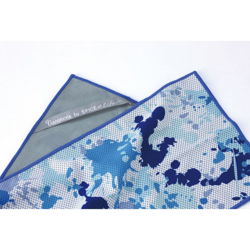 ※ウォータークールミニタオル ドロッピングブルー 88×8cm SFVZ3010 / SPICE OF LIFE