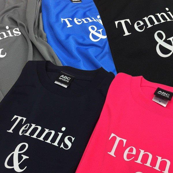 [ウェア]ABCオリジナルス 「Tennis&」ロゴ DRY Tシャツ コバルトブルー(w-0078)