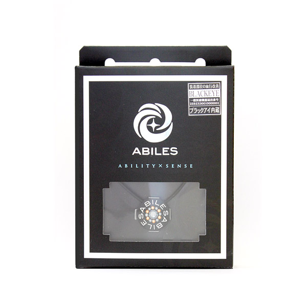 ABILES PLUS Crystal ネックレス Type G  【黒】 6,800円(税別)
