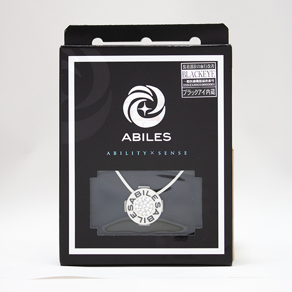 ABILES PLUS Crystal ネックレス Type1【白】6,800円(税別)