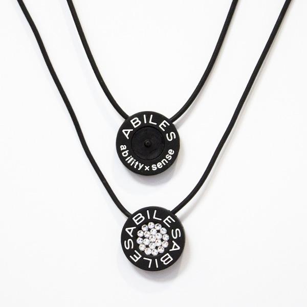 ABILES PLUS Crystal ネックレス Type1【黒】6,800円(税別)