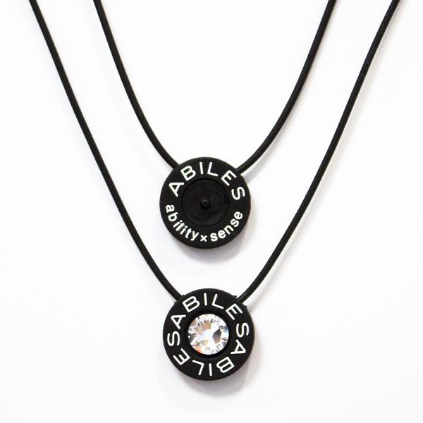 ABILES PLUS Crystal ネックレス Type2【黒】7,480円(税込)