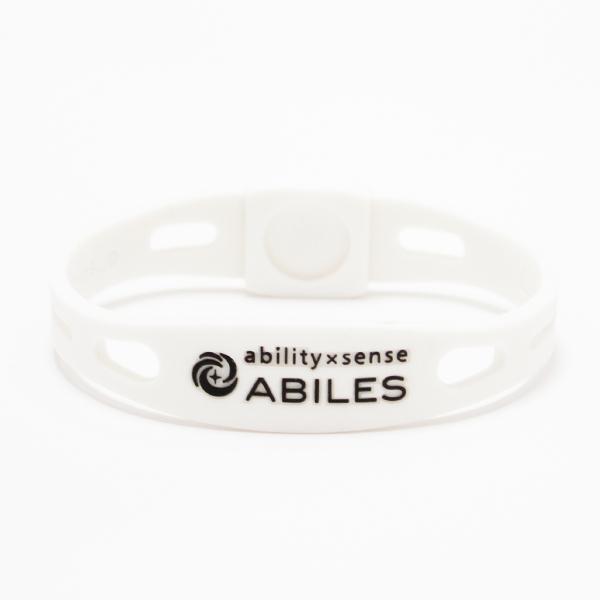 ABILES PRO Crystal ブレスレット/アンクレット【白×ライトシャム】 5,600円(税別)web限定!