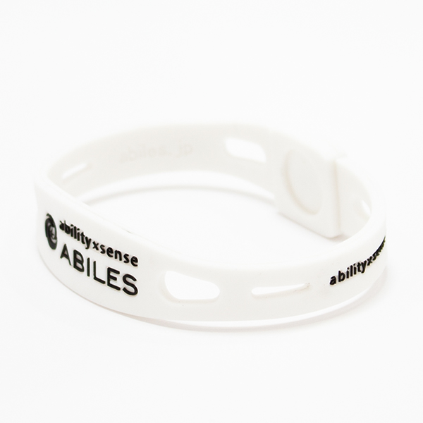 ABILES PRO Crystal ブレスレット/アンクレット【白×アクアマリン】 5,600円(税別)web限定!