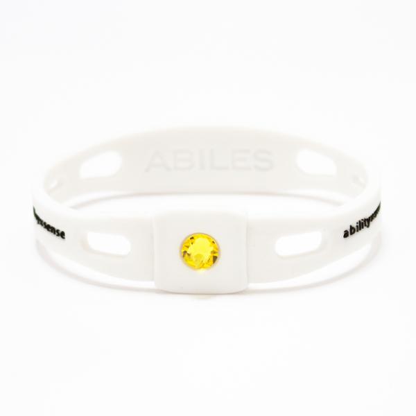 ABILES PRO Crystal ブレスレット/アンクレット【白×シトリン】 5,600円(税別)web限定!