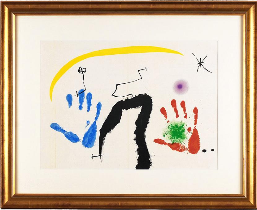 ジョアン・ミロ 「マーグ画廊の新作展・II(見開き)」