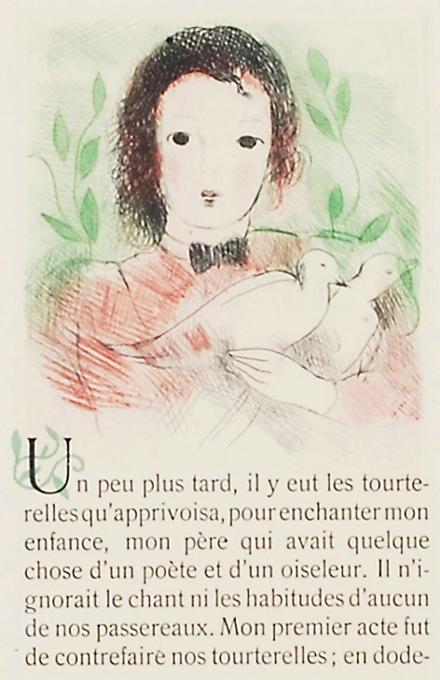 マリー・ローランサン 「雉鳩」