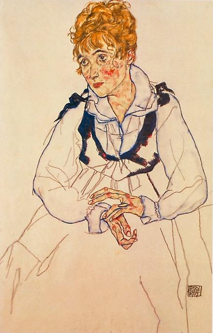 エゴン・シーレ 「画家の妻(PL.54)」
