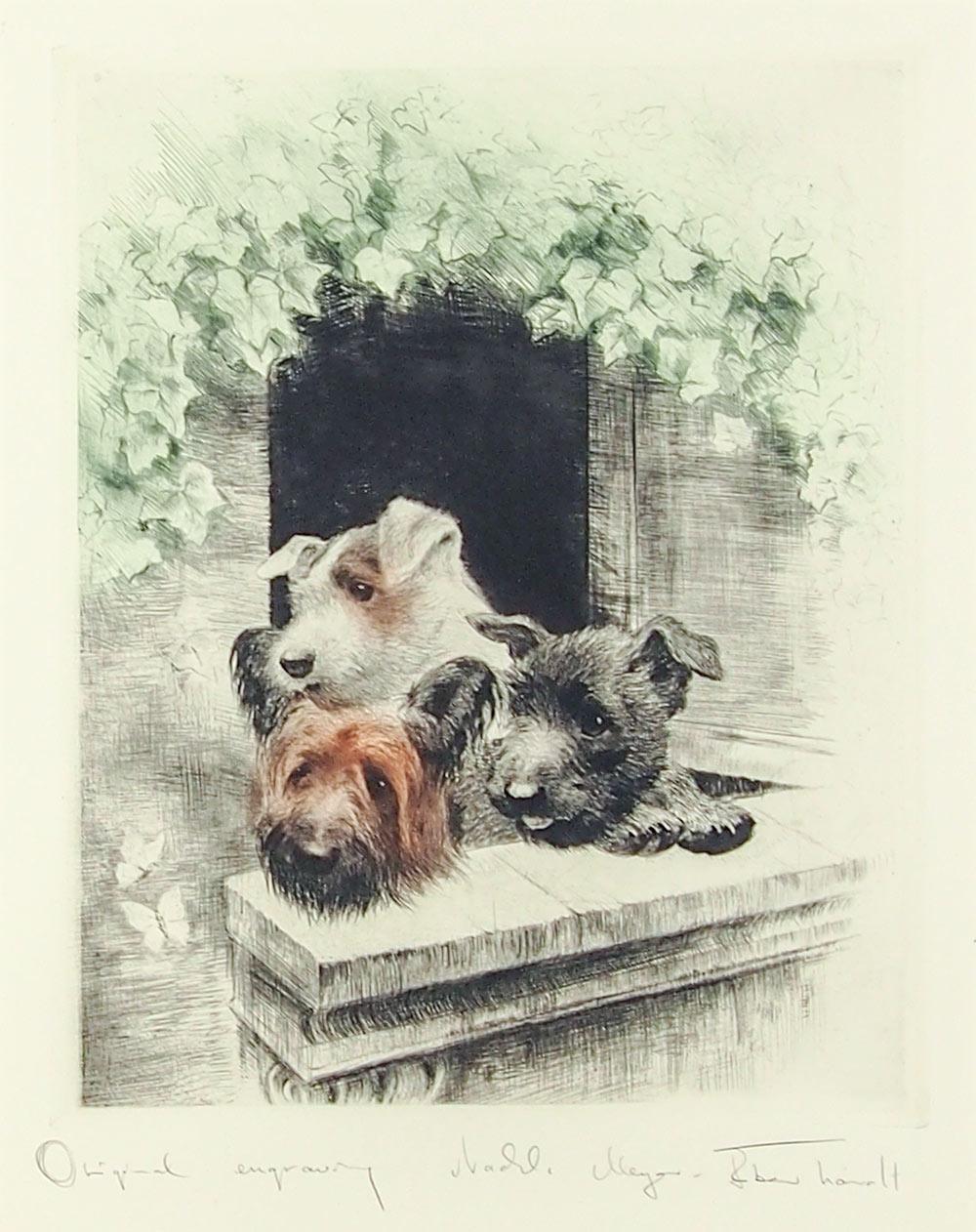 クルト・メイヤー=エバーハート 「バルコニーの三匹の小犬」
