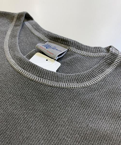 メンズ  ピグメント リブ半袖Tシャツ