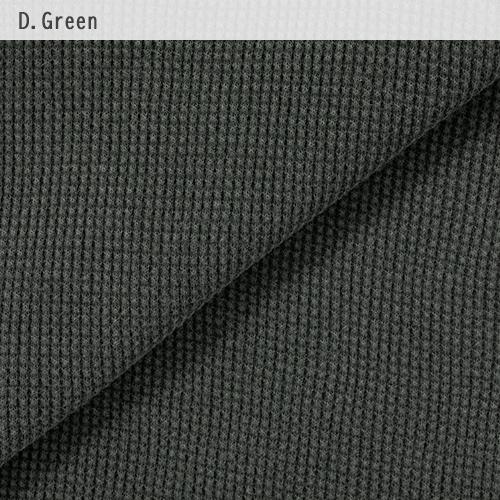 メンズ  ピグメント ワッフル長袖