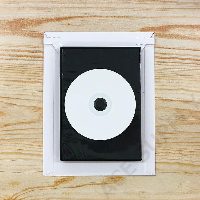 【500枚】厚紙封筒 ビジネスレターケース A5サイズ(外寸190×245+40mm) 開封テープ付 白