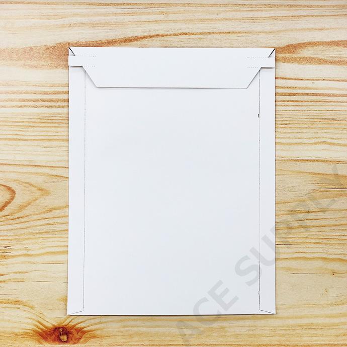 【100枚】厚紙封筒 B5サイズ(外寸225×290+40mm) ビジネスレターケース 開封テープ付 白