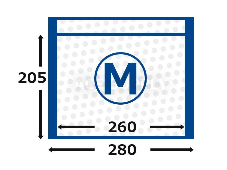 【300枚】ラクッション封筒 ポリタイプ ホワイト Mサイズ(外寸280×205+40mm)