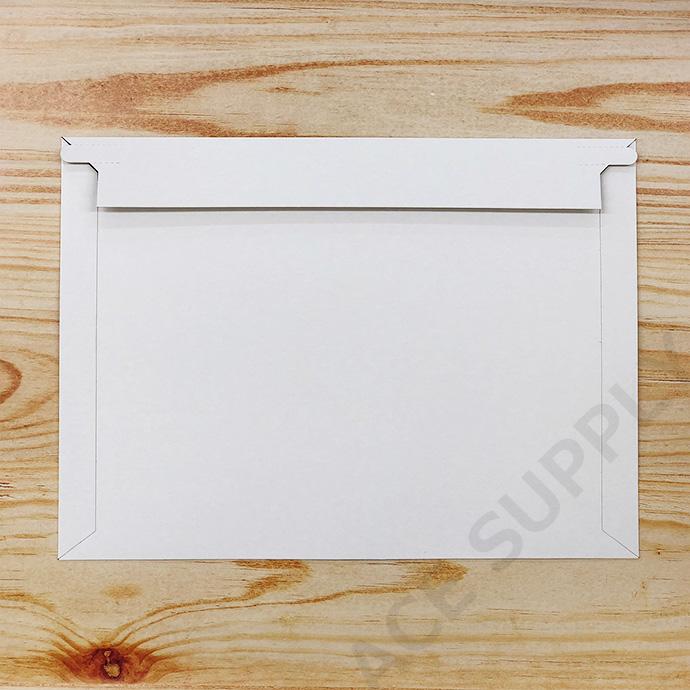 【15枚】厚紙封筒 B5サイズ大(外寸312×228+40mm) ゆうパケット/クリックポスト/ネコポス最大サイズ ビジネスレターケース 開封テープ付 白