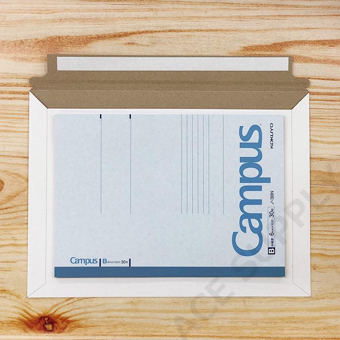 【50枚】厚紙封筒 ネコポス最大サイズ(外寸312×228+40mm) ビジネスレターケース 開封テープ付 白
