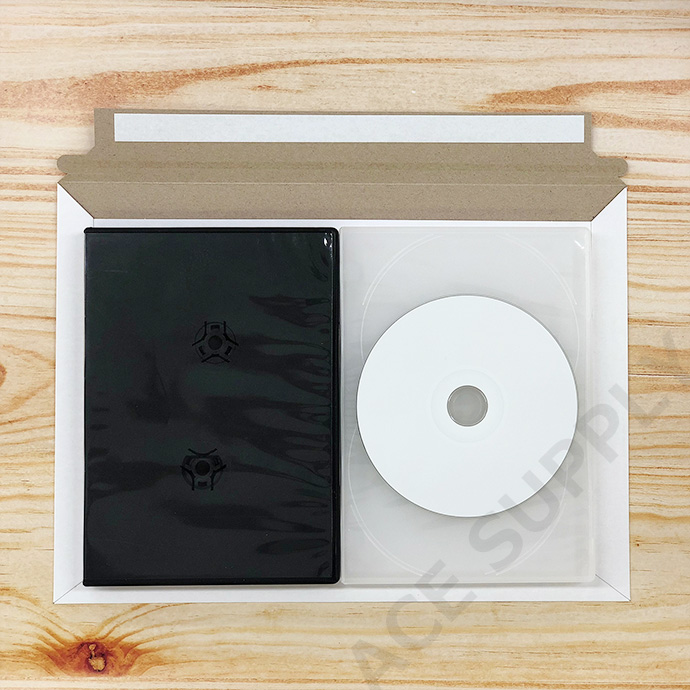 【400枚】厚紙封筒 ゆうパケット/クリックポスト/ネコポス最大サイズ(外寸312×228+40mm) ビジネスレターケース 開封テープ付 白