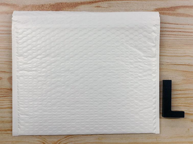 【10枚】ラクッション封筒 ポリタイプ ホワイト Lサイズ(外寸312×228+40mm)