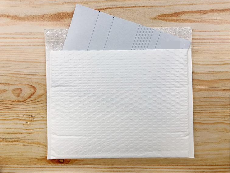 【100枚】ラクッション封筒 ポリタイプ ホワイト Lサイズ(外寸312×228+40mm)