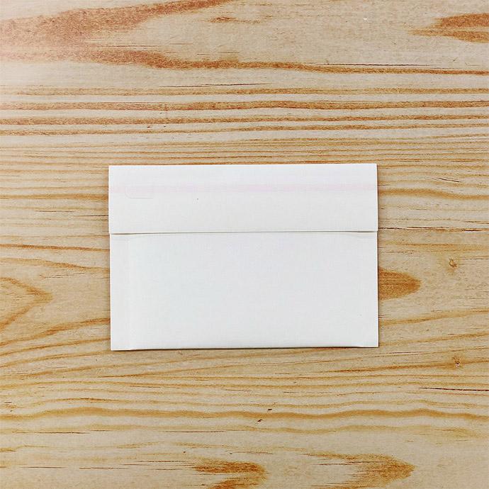 【3枚】クッション封筒 スリム薄型 開封テープ付 ホワイト miniサイズ(外寸150×100+40mm)