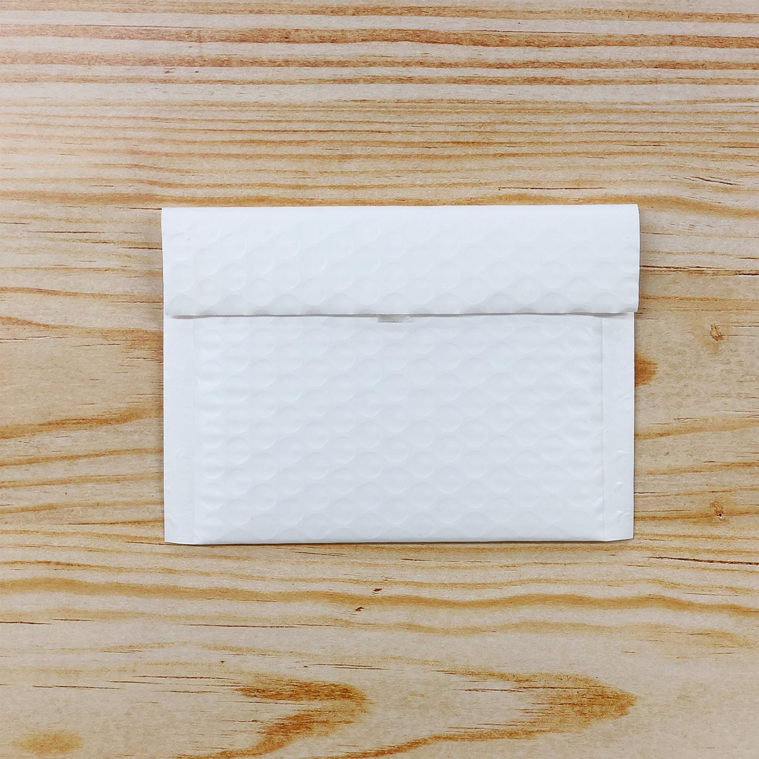 【10枚】クッション封筒 スリム薄型 耐水タイプ ホワイト miniサイズ(外寸150×100+40mm)