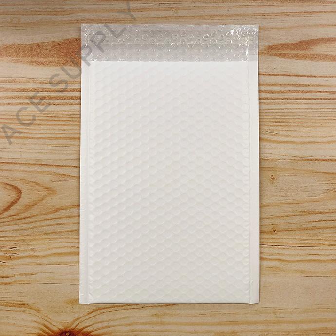 【3枚】クッション封筒 スリム薄型 耐水タイプ ホワイト ZEROサイズ(外寸190×254+40mm)