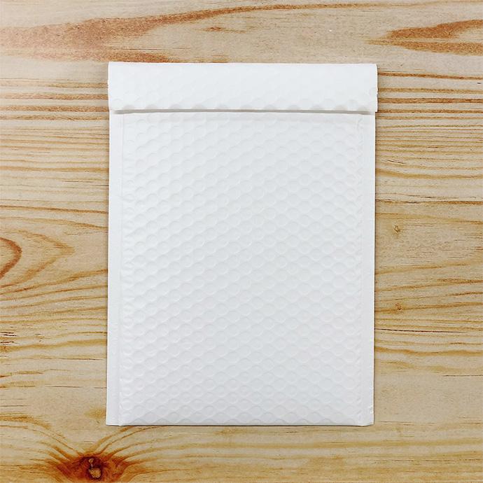 【10枚】クッション封筒 スリム薄型 耐水タイプ ホワイト ZEROサイズ(外寸190×254+40mm)