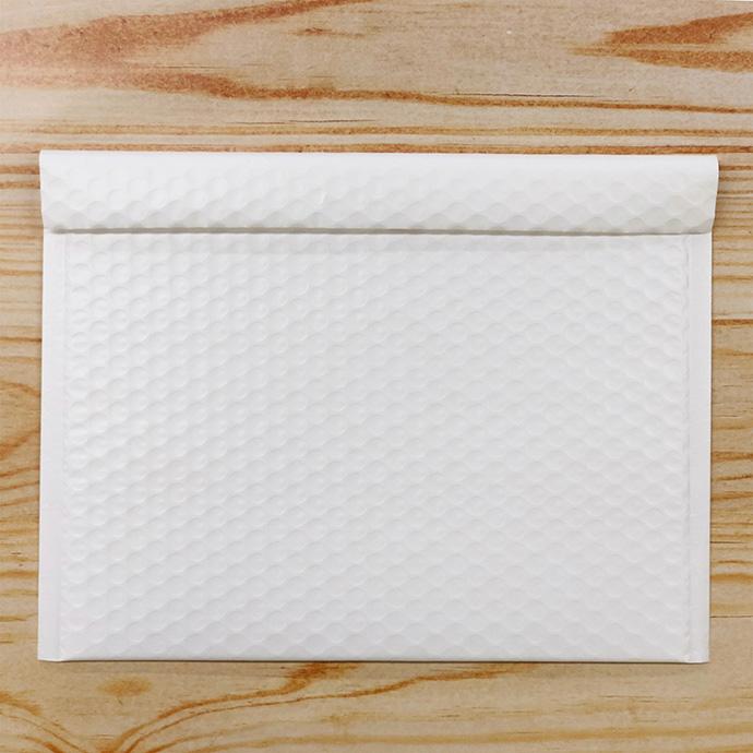 【100枚】クッション封筒 スリム薄型 耐水タイプ ホワイト Lサイズ(外寸312×228+40mm)